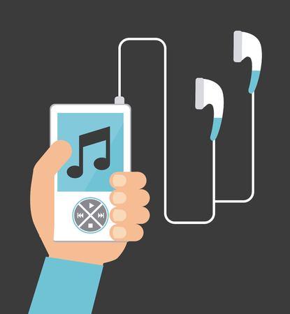 mp3 music player design, vector illustration graphic