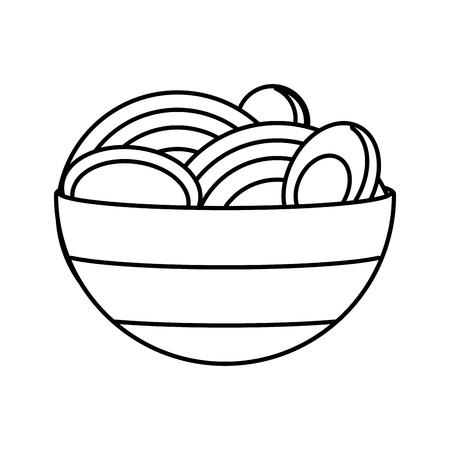 soup with egg fast food white background vector illustration Foto de archivo - 122995998