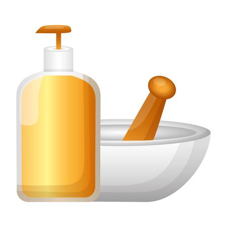 spa product bowl treatment vector illustration design