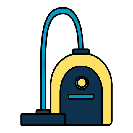 vacuum cleaner tool cleaning on white background vector illustration