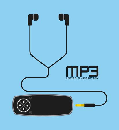 mp3 music player design, vector illustration eps10 graphic Çizim