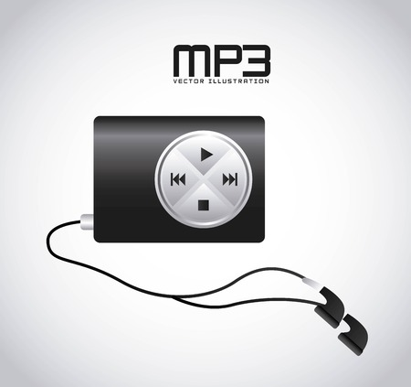 mp3 music player design, vector illustration eps10 graphic Ilustrace