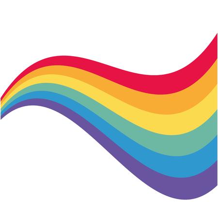 disegno dell'illustrazione di vettore di orgoglio dell'onda dell'arcobaleno Vettoriali
