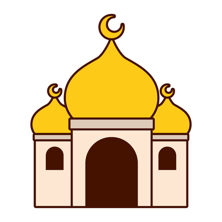 taj mahal ancient palace india vector illustration design
