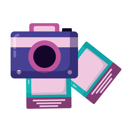 photography camera pictures on white background vector illustration Stock Vector - 122996287