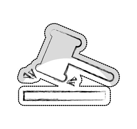 gavel justice isolated icon vector illustration design Standard-Bild - 122996307
