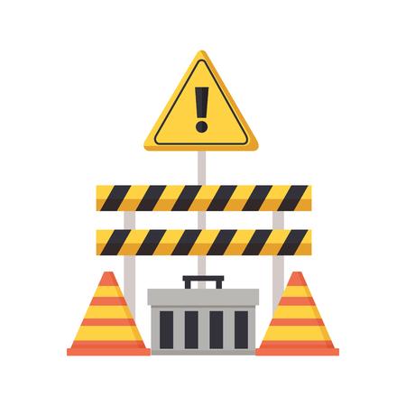 construction equipment barrier cone toolbox vector illustration 版權商用圖片 - 122996416