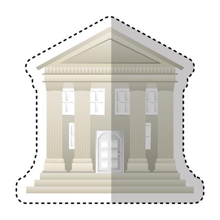 Gebäude römische Säulen Symbol Vektor Illustration Design