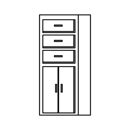 wooden shelving isolated icon vector illustration design 일러스트