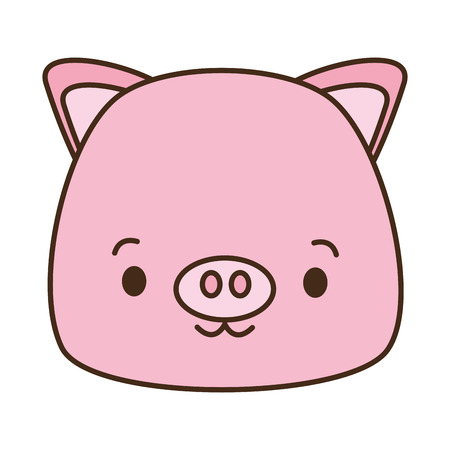 cute piggy cartoon vector illustration design image