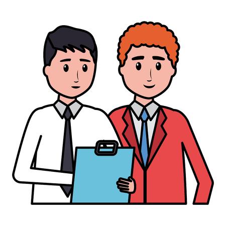 Männer Mitarbeiter Charakter Büro Vektor Illustration Design Vektorgrafik