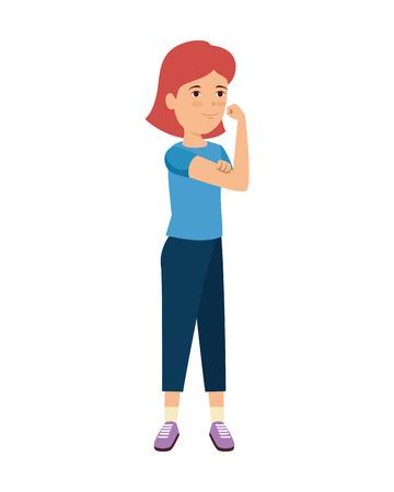 beautiful strong woman avatar character vector illustration design Illustration