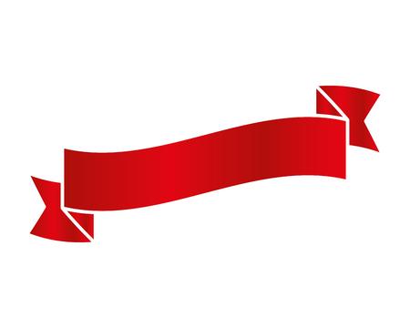 ribbon tape frame icon vector illustration design