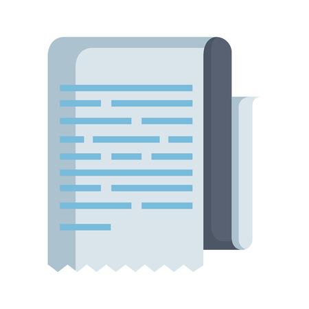 Documento de papel aislado icono de ilustración vectorial de diseño Ilustración de vector