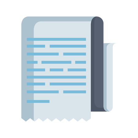 progettazione dell'illustrazione di vettore dell'icona isolata documento cartaceo Vettoriali