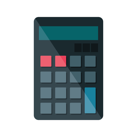 calculator math isolated icon vector illustration design