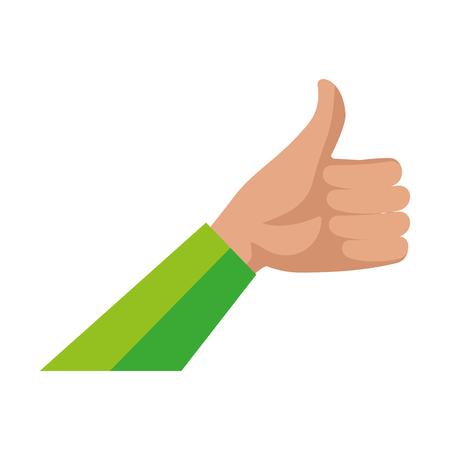 mano umana ok simbolo illustrazione vettoriale design