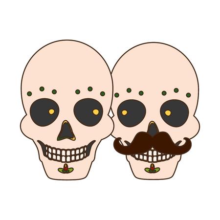 catrina skull flower character vector illustration design vector illustration Standard-Bild - 123002327