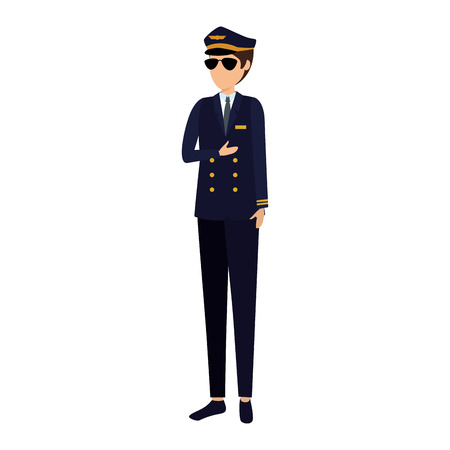 aviation pilot avatar character vector illustration design Archivio Fotografico - 123002361