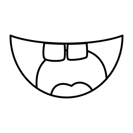 crazy mouth fools day icon vector illustration design Illustration