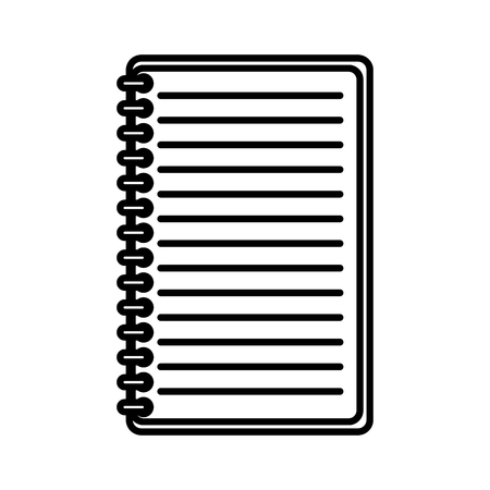 notepad office isolated icon vector illustration design