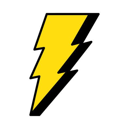 moc promienia energii ikona wektor ilustracja projekt Ilustracje wektorowe