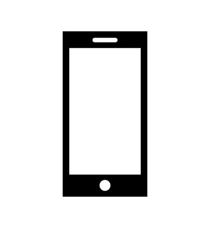 smartphone technology line icon vector illustration design