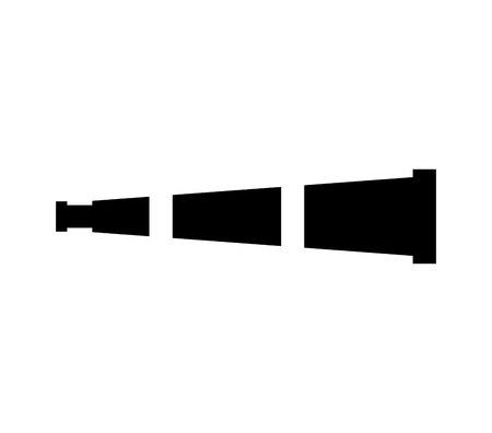 Dispositivo de telescopio icono aislado diseño de ilustración vectorial Ilustración de vector