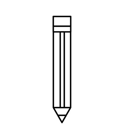 pencil school supply icon vector illustration design  イラスト・ベクター素材