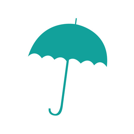 umbrella silhouette isolated icon vector illustration design