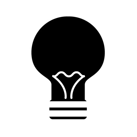 bulb light flat icon vector illustration design