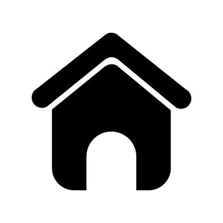 dom sylwetka na białym tle ikona wektor ilustracja projekt