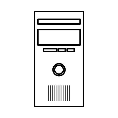 Ordinateur de bureau cpu vecteur icône isolé illustration design