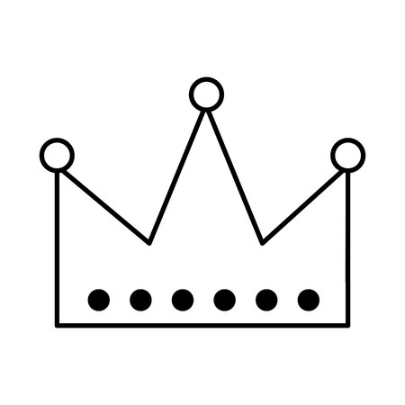 king crown isolated icon vector illustration design Imagens - 123002873