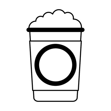 coffee glass drink isolated icon vector illustration design