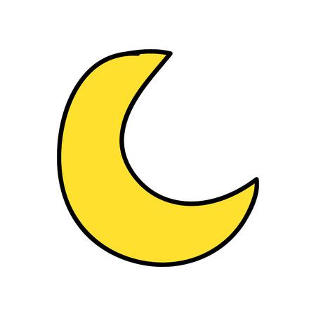 carino luna icona isolata illustrazione vettoriale design