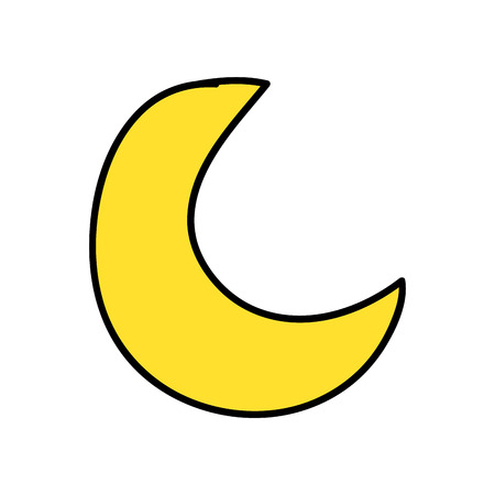 cute moon isolated icon vector illustration design