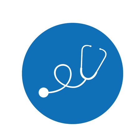 stethoscope medical device icon vector illustration design Vector Illustration