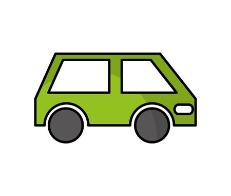 Voiture véhicule auto icône isolé illustration vectorielle conception