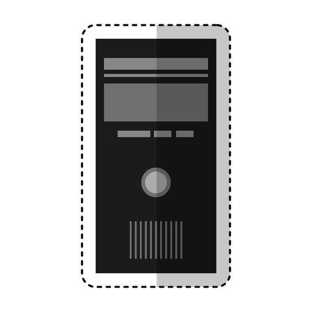 computer desktop cpu isolated icon vector illustration design