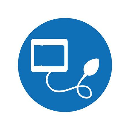 Blood pressure gauge isolated icon vector illustration design Reklamní fotografie - 121485982