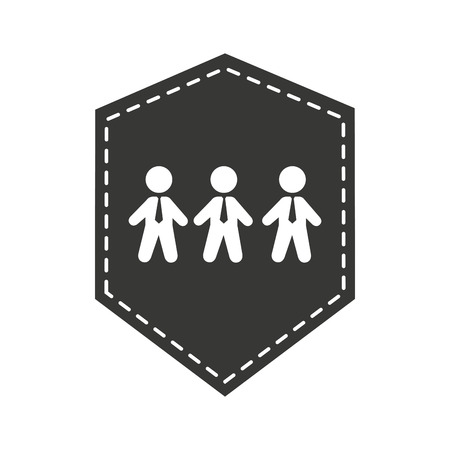 teamwork businessmen silhouette icon vector illustration design