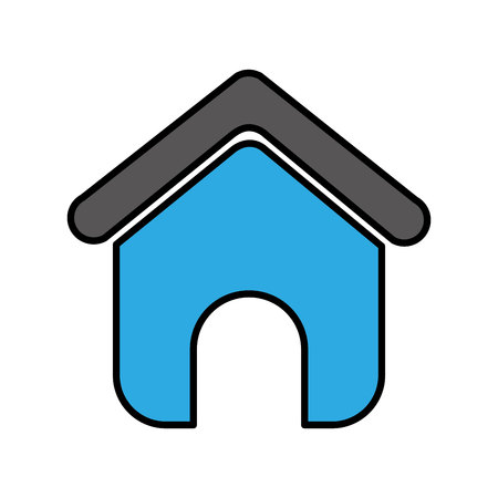 house silhouette isolated icon vector illustration design 스톡 콘텐츠 - 123002994