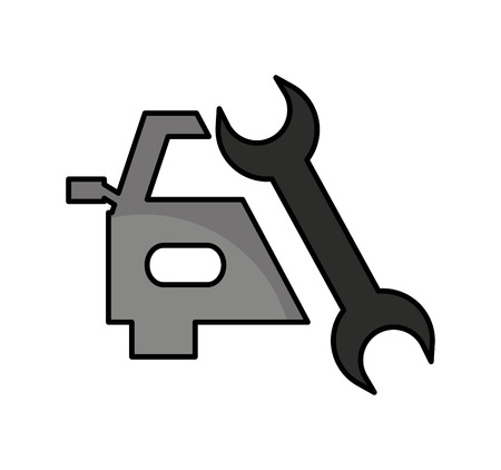 auto repair service isolated icon vector illustration design Illustration