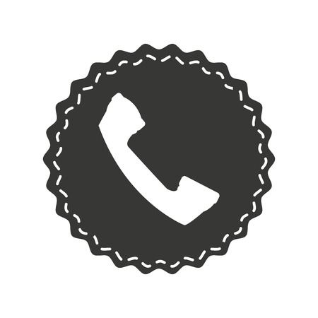 telephone service isolated icon vector illustration design Illusztráció