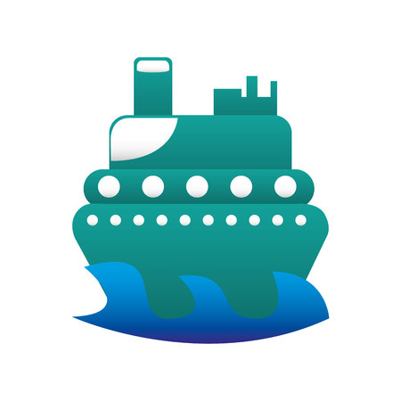boat surfing isolated icon vector illustration design Stock Vector - 123003051