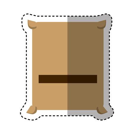 concrete bag isolated icon vector illustration design Çizim