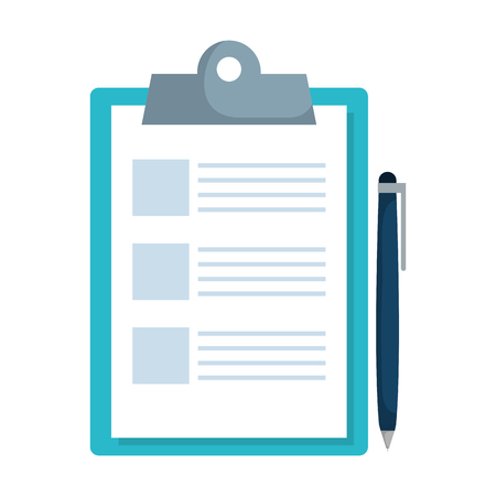 checklist clipboard with pen vector illustration design Reklamní fotografie - 123003072