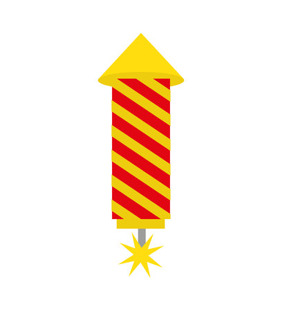 rocket firework isolated icon vector illustration design Standard-Bild - 123003081