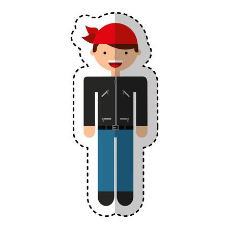 motorcyclist avatar character icon vector illustration design Illustration